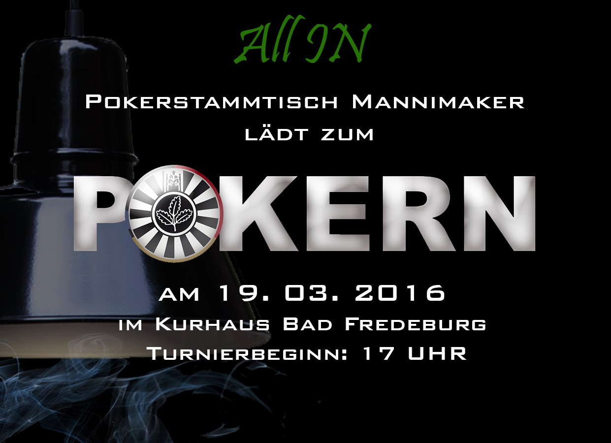 "Pokerturnier ""All In"" am 19.03.2016 im Kurhaus"